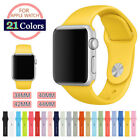 38/42mm Silicone Bracelet Band Strap For Apple Watch iWatch Sports Series 1/2/3