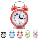 Modern Classic Silent Double Bell Alarm Clock Time Quartz Movement Bedside Grand