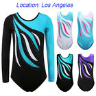 US Warehouse Kids Girls Gymnastics Ballet Dance Leotards Practice Outfit 3-14Y