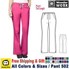 WonderWink Scrubs WORK Women's Medical Elastic Waist Flare Leg Pant 502 Tall