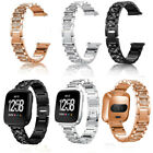 Rhinestone Stainless steel Metal Wrist Band Strap For Fitbit Versa Smart Watch image