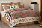 HOLLIS QUILT SET-choose size & accessories- Rustic Holly Berry Red VHC Brands image