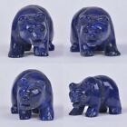 "52mm Hand carved natural lapis bear figurine 2"" *each one pictured* image"