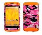 For LG Nexus 4 Pink Military Camo Hybrid ShockProof Armor Protector Case Cover