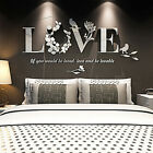 DIY 3D Mirror Love Flower Wall Sticker Quote Flower Acrylic Decal Home Decors GB