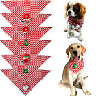 Red Plaid Pet Dog Cat Christmas Bandanas Dog Scarf Mixed Patterns Dog Bow ties
