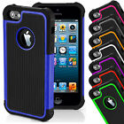 Hard Shockproof Case Cover for Apple iPhone 4s 5s 5c 6 7 8 FREE Screen Protector <br/> Add A 9H Tempered Glass For .99p