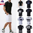 Mens Golf Polo Short Sleeve Lapel T Shirt Tops Casual Slim Fit Muscle Blouse Top
