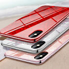 For IPhone  XS Max XR  XS Luxury Shockproof Glass Back Ultra thin Hybrid PC Case
