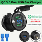 QC 3.0 USB Fast Car Charger Socket Power Adapter For Car Boat Motorcycle Vehicle