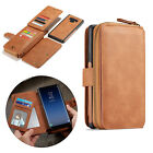 Zip Wallet Purse Magnetic PU Leather Case Cover For iPhone XR XS Max Samsung S10