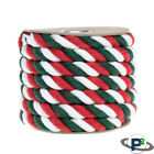 P2 Colored Twisted Cotton Rope 1/4 & 1/2-in Rope by the Foot Pet Safe USA Made