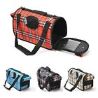 New Pet Sided Travel Carrier Cat Dog Fleece Bag Subway Airline Approved Comfort