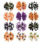 Happy Halloween For Baby Girl Elastic Headband Hair Band Bows More Colors 8cm