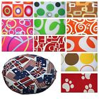 Flat Round Shape Cover*Modern Cotton Canvas Floor Seat Chair Cushion Case*AL0
