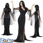 Morticia Costume Immortal Soul Vampire Outfit Ladies Witch Fancy Dress Halloween