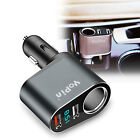 Car Charger Adapter with Cigarette Lighter Socket and Dual USB Charging Ports