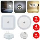 0.5W Plug-in Auto Sensor White LED Night Light Wall Lamps  + Dusk Offset Prongs
