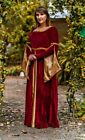 Plus Size Luxury Medieval Gown Queen Maiden Dress Costume Royal Princess LARP