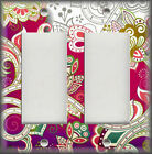 Metal Light Switch Covers - Ornate Flowers Decorative Art Home Decor Design 04