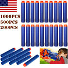 1000PCS Bullet Darts For NERF Kids Toy Gun N-Strike Round Head Blasters Blue #S