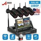 "ANRAN Home Security Camera System 1080P HD 8CH 1TB HDD 12""LCD Outdoor WIFI NVR"