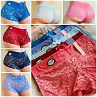 Boyshorts Lace Seamless SOFT 6 OR 12 Multi-Colors PANTIES UNDERWEARS L843 S-2XL