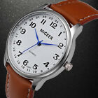 Fashion Men's Watch Business Analog Stainless Steel Leather Strap Wrist Watches image