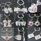 2pcs/set New Couple I Love You Letter Keychain Heart Key Ring For Lovers Gifts