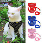 JN_ Soft Mesh Small Dog Harness And Leash Set Puppy Cat Pet Jacket Vest Lead C