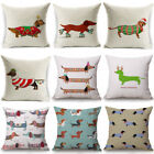 "18"" Xmas Cotton Pillow Case Linen Cushion Cover Merry Christmas Home Decor Gift image"