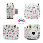 Fujifilm Instax Mini 8 9 Film Instant Camera Flamingo Bag PU Leather Cover Case