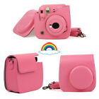 Fujifilm Instax Mini 8 9 Film Instant Camera Flamingo Bag PU Leather Cover Case <br/> ☀️Fit Perfectly☀️Better Quality ☀️UK Stock