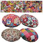 Flat Round Shape Cover*A-Grade Cotton Canvas Floor Seat Chair Cushion Case*Lf2