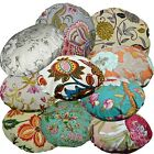 Flat Round Shape Cover*A-Grade Cotton Canvas Floor Seat Chair Cushion Case*Lf4