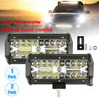 3-Rows 7 inch 480W Led Work Light Bar Flood Spot Combo Driivng Offroad Fog Lamps