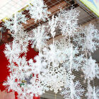 90Pcs White Snowflakes Decorations Christmas Tree Party Charms Ornaments 11cm UK