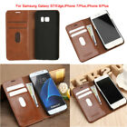 Leather Wallet Card Holder Flip Case Cover For Samsung Galaxy S7/Edge iPhone7 7+