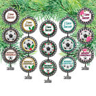 Soccer Bottle Cap Ornament / Comes w/ 2019 Year Charm / Can be Personalized