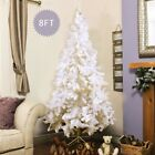 Artificial PVC White Christmas Tree Stand 4 Size Home Xmas Party Festival Decor