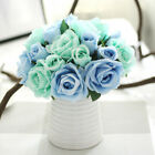 Real Heads Bouquet Room 9 Stem Touch Silk Flower Single Decor Home Rose