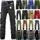 Mens Camo Army Work Cargo Combat Military Trousers Shorts Casual Tactical Pants