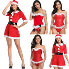 Sexy Red Santa Xmas Fancy Lingerie Corset Bustier Costume Christmas Dress Shaper