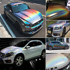 Car Iridescence Rainbow Laser Holographic Chameleon Chrome Vinyl Wrap Sticker Cb