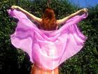 25 yard long Chiffon Veil New for Belly Dance or Cosplay 12 colors