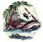 Rainbow Trout Fishing Pole River Select-A-Size Waterslide Ceramic Decals Xx image