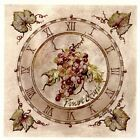 Pinot Grigio Wine Grape Clock Square Select-A-Size Waterslide Ceramic Decals Xx  image