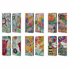 OFFICIAL LAUREN MOSS FLOWERS LEATHER BOOK WALLET CASE COVER FOR LENOVO PHONES