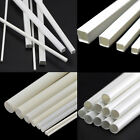 White ABS Styrene Plastic Material Tube Round Bar  Square Bar Rod 250mm Length