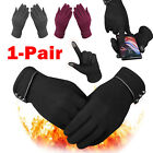 Winter Warm Thick Soft Cashmere Touch Screen Fleece Gloves For Women Ladies US